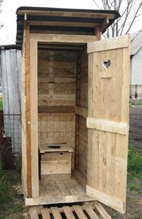 Как построить туалет на улице своими руками фото
